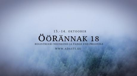 Öörännak 13.-14. oktoober 2018